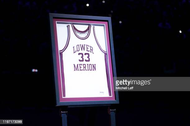 The Philadelphia 76ers honor former Los Angeles Lakers star Kobe Bryant who passed away in a helicopter crash by placing his Lower Merion High School...