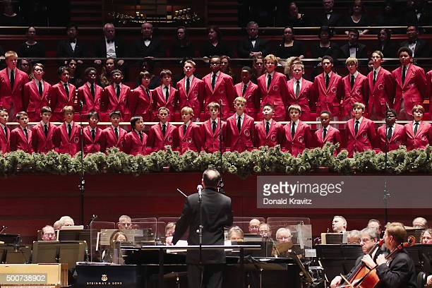 The Philadelphia Boys Choir performs With The Philly Pops at Kimmel Center for the Performing Arts on December 9 2015 in Philadelphia Pennsylvania