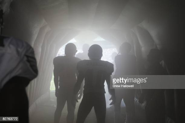 The Philadelphia Eagles enter the stadium during the game against the St Louis Rams on September 7 2008 at Lincoln Financial Field in Philadelphia...