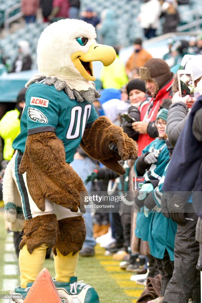 The Philadelphia Eagles Mascot Swoop Interacts With Fans Along The