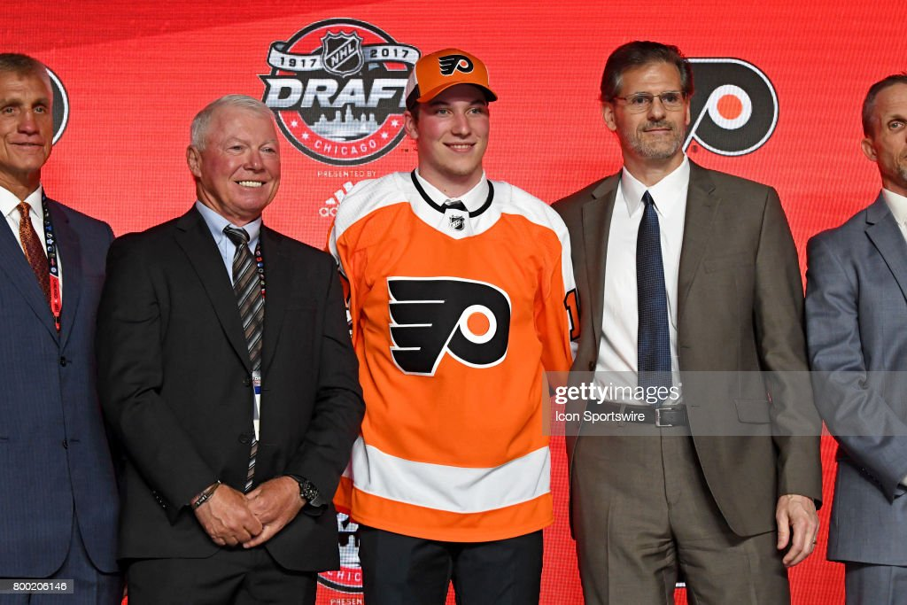 The Philadelphia Flyers select center Nolan Patrick with the 2nd pick in the first round of the 2017 NHL Draft on June 23, 2017, at the United Center, in Chicago, IL.