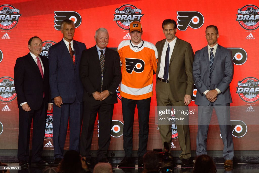 The Philadelphia Flyers select center Nolan Patrick with the 2nd pick in the first round of the 2017 NHL Draft on June 23, 2017, at the United Center in Chicago, IL.
