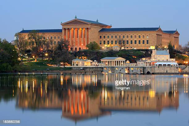 The Philadelphia Museum of Art and water works