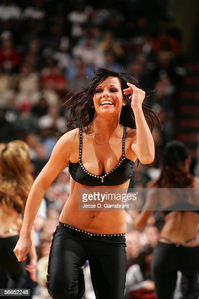 The Philadelphia Sixers Dancers perform during an intermission in the game against the Seattle Sonics on January 9 2006 at the Wachovia Center in...