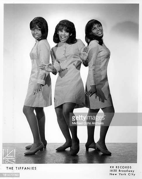 The Philadelphia soul group 'The Tiffanies' aka The Tiffanys which recorded the song 'Happiest Girl In The World' pose for a portrait in circa 1965...