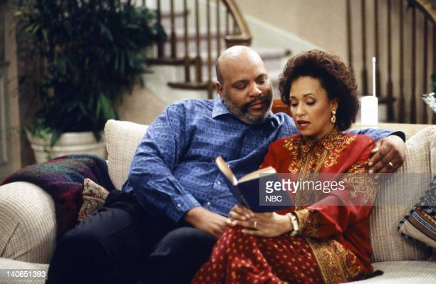 AIR The Philadelphia Story Episode 26 Pictured James Avery as Philip Banks Karyn Parsons as Hilary Banks Photo by Joseph Del Valle/NBCU Photo Bank