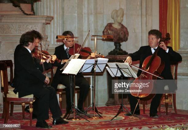 The Philharmonic Berlin Quartet playing on Stradivarius instruments belonging to national heritage