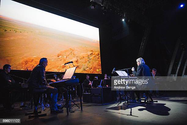 The Philip Glass Ensemble performs on the Bravo Stage during day 3 of Lowlands Festival 2016 on August 21, 2016 in Biddinghuizen, Netherlands.