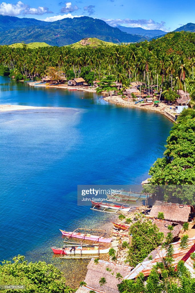 The Philippines, Coastline of Mindanao Island : Stock Photo