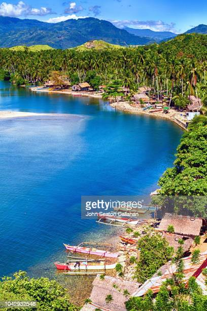 the philippines, coastline of mindanao island - davao city stock photos and pictures