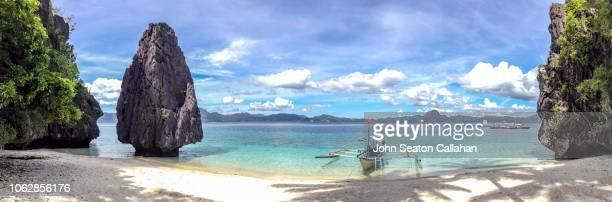 the philippines, island and tropical beach in el nido - palawan stock pictures, royalty-free photos & images