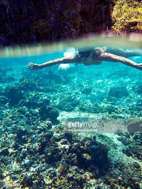 The Philippines, Palawan Province, El Nido, coral reef.