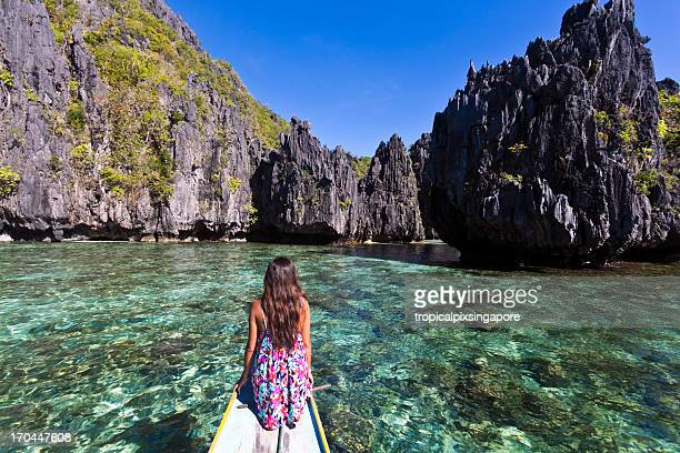 the philippines, palawan province, el nido, tropical island. - el nido stock pictures, royalty-free photos & images
