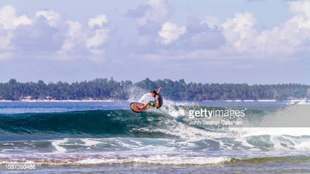 the philippines, surfing in mindanao - water sport stock photos and pictures
