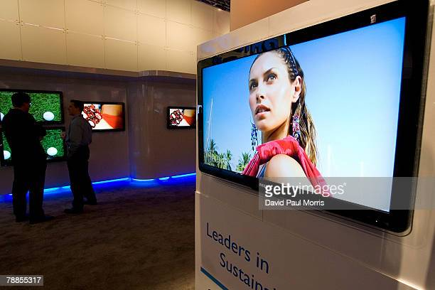 The Philips 42 PFL 5630D LCD TV which won the CNET Best of Show is seen at the 2008 International Consumer Electronics Show at the Las Vegas...