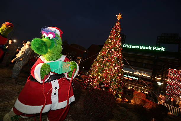 philadelphia phillies christmas tree lighting with coach charlie