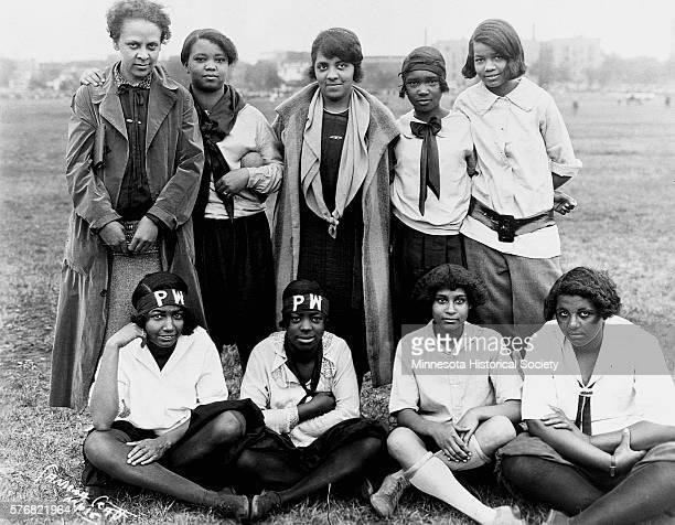 The Phillis Wheatley Intermediate Diamond Ball Team during the summer of 1926