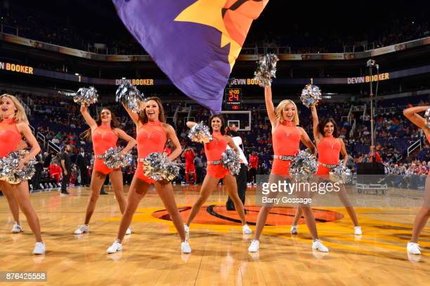 The Phoenix Suns dance team performs against the Chicago Bulls on November 19 2017 at Talking Stick Resort Arena in Phoenix Arizona NOTE TO USER User...