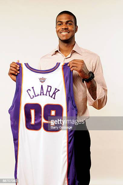 The Phoenix Suns introduce Earl Clark the 14th overall pick in the 2009 NBA Draft on June 26 at US Airways Center in Phoenix Arizona NOTE TO USER...