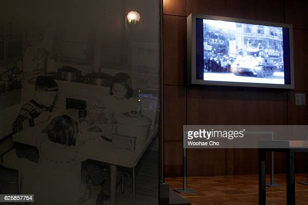 The photo of Park Geunhye's childhood is exhibited in the house where Park's family lived from May 1958 when his father former president Park...