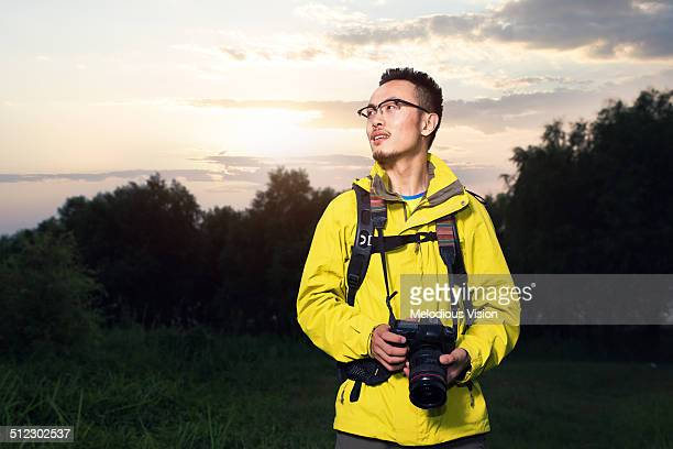 The photographer in the field
