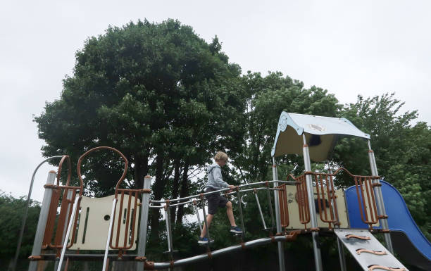 GBR: Playgrounds Reopen In England As Lockdown Gradually Lifted