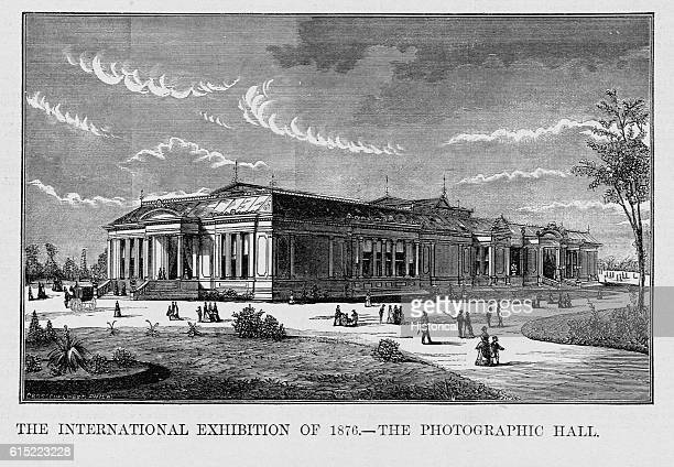 The Photographic Hall at the International Exibition of 1876 housed a number of slide screens and a large photographic exhibit