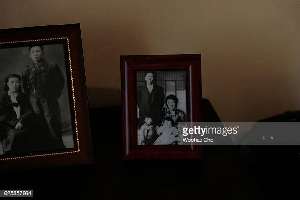 The photos and the replicas of the furnitures that president Park Geunhye's used are exhibited in the house where Park's family lived from May 1958...