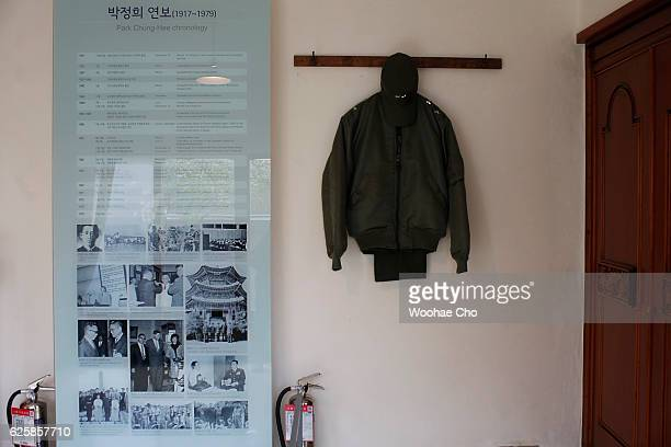 The photos and the replicas of the possessions are exhibited in the house where president Park Geunhye's family lived from May 1958 when his father...