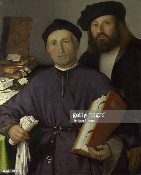 The Physician Giovanni Agostino della Torre and his Son Niccolò ca 1515 Found in the collection of the National Gallery London
