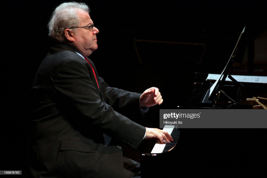 The pianist Emanuel Ax and musicians from the New York Philharmonic performing in 'Song of the Earth' as part of Lincoln Center's White Light Festival at the Rose Theater on Sunday afternoon, November 4, 2012.This image:Emanuel Ax performed solo in Bach's 'The Well-tempered Clavier' and Schoenberg's 'Six Little Piano Pieces.'