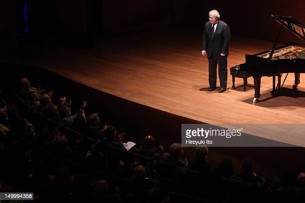 The pianist Emanuel Ax performing all-Schubert program at Alice Tully Hall on Saturday night, February 26, 2011.