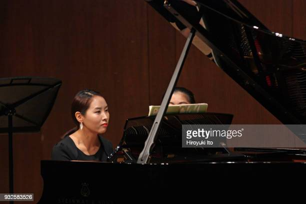 The pianist Minjung Jung performing Prokofiev's Sonata No 2 for Violin and Piano at the Juilliard School's Paul Hall on Wednesday night November 15...