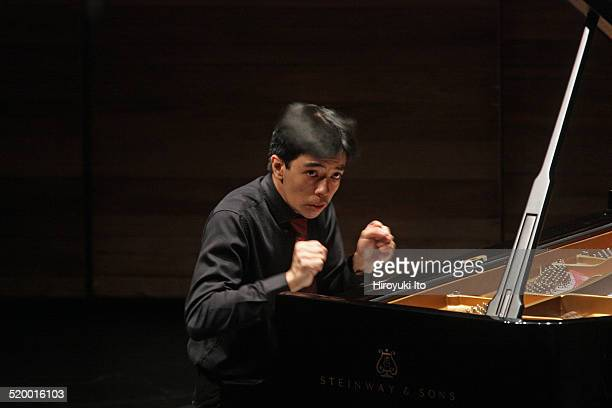 """The pianist Tengku Irfan of Axiom performing Messiaen's """"Oiseaux exotiques"""" at Peter Jay Sharp Theater at the Juilliard School on Friday night,..."""