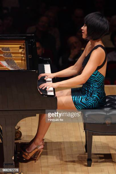 The pianist Yuja Wang performing the music of Rachmaninoff Scriabin Ligeti and Prokofiev at Carnegie Hall on Thursday night May 17 2018