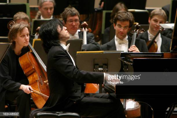The pianist Yundi Li performing Schumann/Liszt's 'Liebeslied' as encore at Carnegie Hall on Monday night March 5 2007