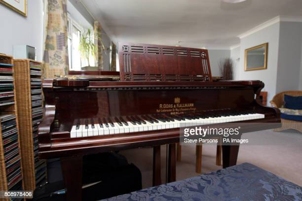The piano on which Kate Middleton learned to play at the home of her former teacher Daniel Nicholls in Bucklebury Berkshire