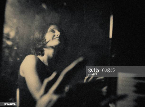 the piano player - pop musician stock pictures, royalty-free photos & images