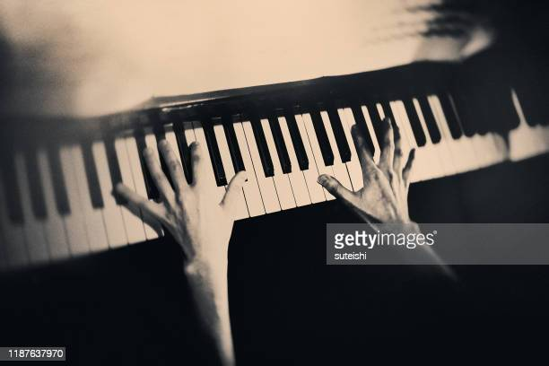 the piano player - keyboard player stock pictures, royalty-free photos & images