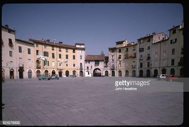 The Piazza del Mercato in Lucca Tuscany
