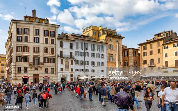 The Piazza della Rotonda square is seen at the Pantheon on October 31 2017 in Rome Italy Rome is one of the most popular tourist destinations in the...