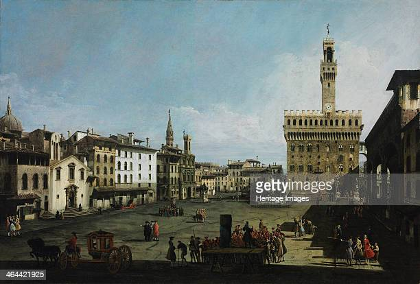 The Piazza della Signoria in Florence 1742 Found in the collection of the Szepmuveszeti Muzeum Budapest