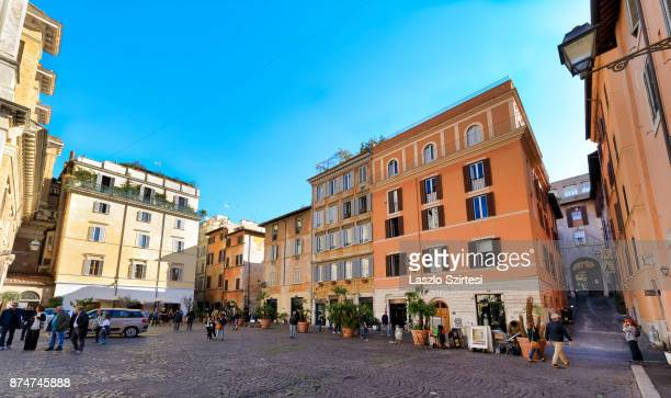 The Piazza di San Salvatore square is seen on November 1 2017 in Rome Italy Rome is one of the most popular tourist destinations in the World