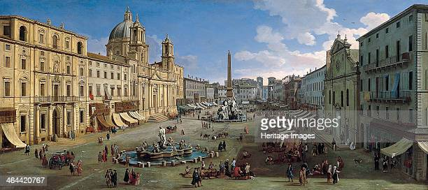 The Piazza Navona in Rome 1699 Found in the collection of the ThyssenBornemisza Collections
