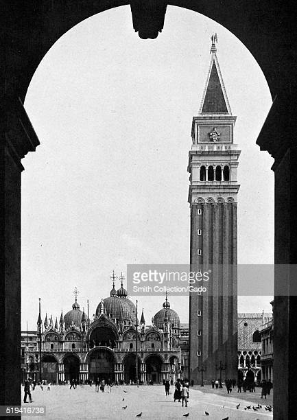 The Piazza of Venice the Church of Saint Mark and the Campanile picture by Donald McLeish Italy July 1922