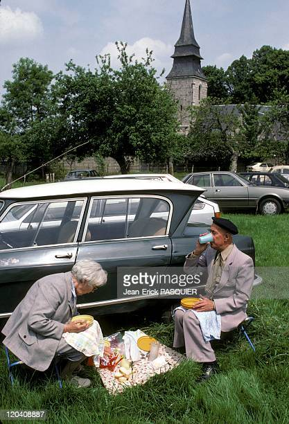 The Picnic In France In 1987 Picnic rightthinking in the garden of the rectory after Mass on Sundaya Country Priest Father Quintin Montgomery Wright...