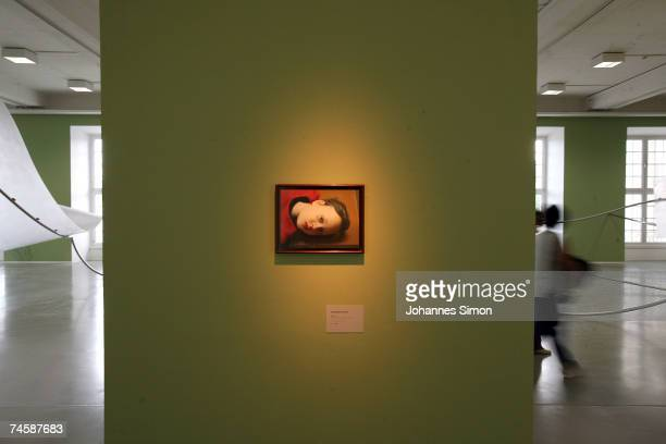 The picture 'Betty' of German artist Gerhard Richter is displayed during a media preview of Documenta 12 on June 13 2007 in Kassel Germany The...