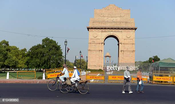 The picture featuring extreme hot weather near India Gate on May 22 2013 in New Delhi India