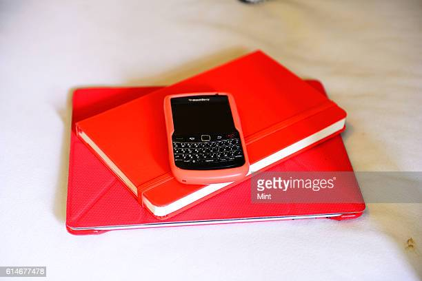 The picture featuring Moleskin notebook and BlackBerry cover on May 12 2013 in New Delhi India