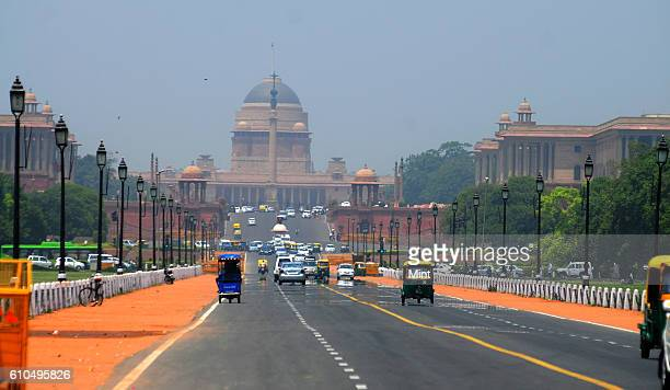 The picture featuring morning weather at Rajpath on May 13, 2013 in New Delhi, India.